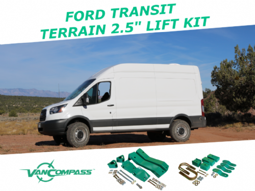 "Van Compass Ford Transit Terrain 2.5"" Suspension Lift System ('15-Present) 1500-3500 Single Rear Wh"